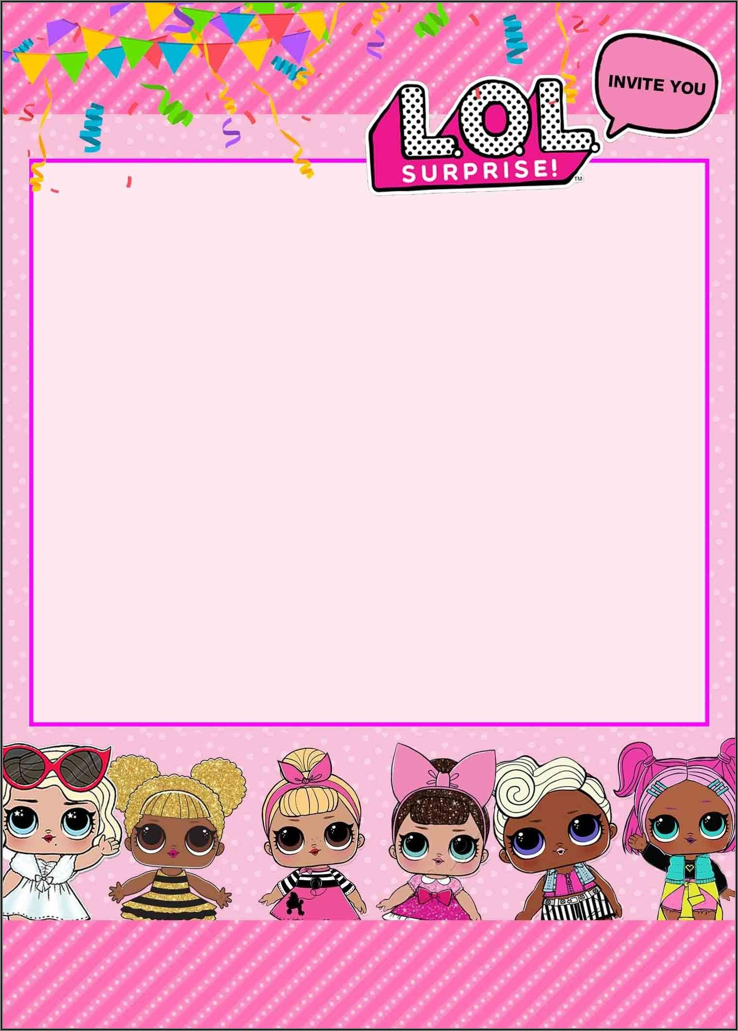 Lol Surprise Doll Invitations Template