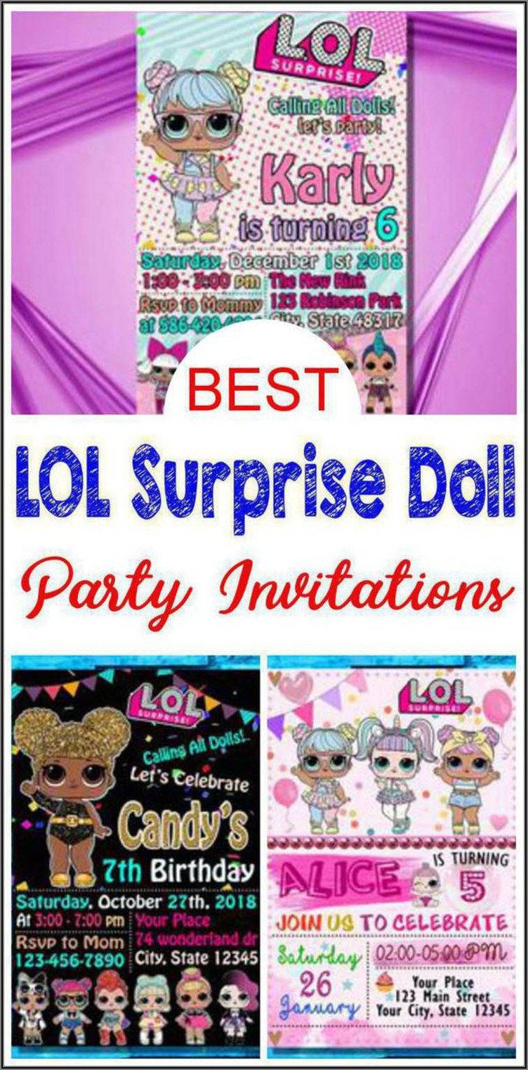 Lol Surprise Doll Invitations
