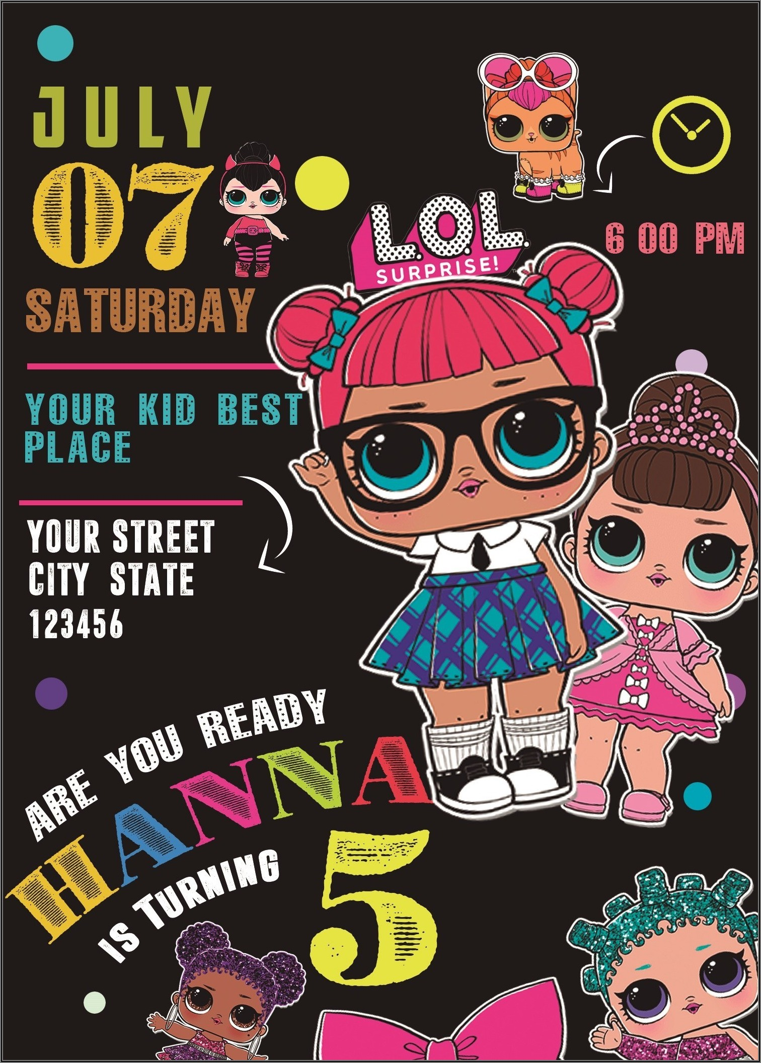 Lol Surprise Doll Online Invitations