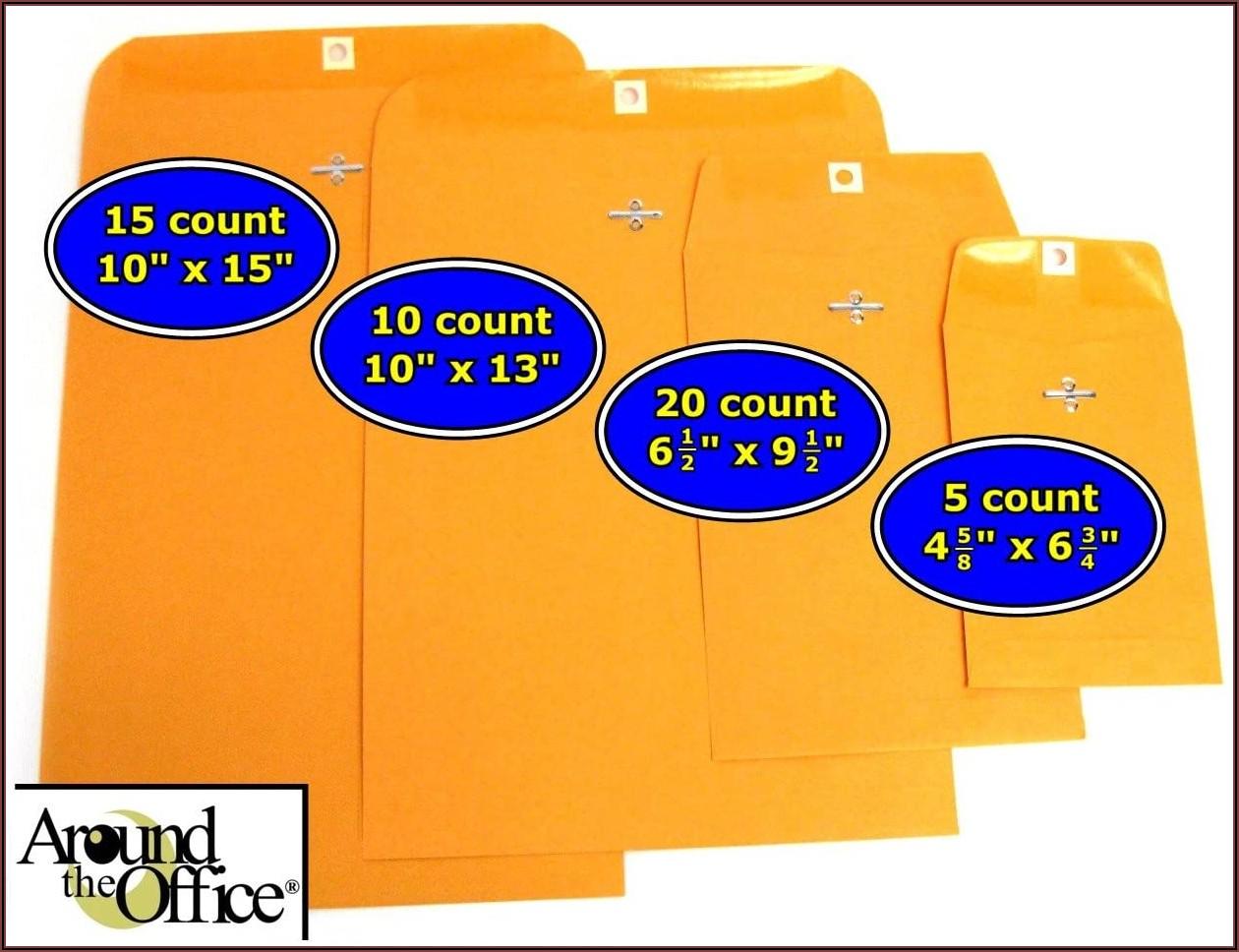 Manila Envelope Sizes 9 X 12