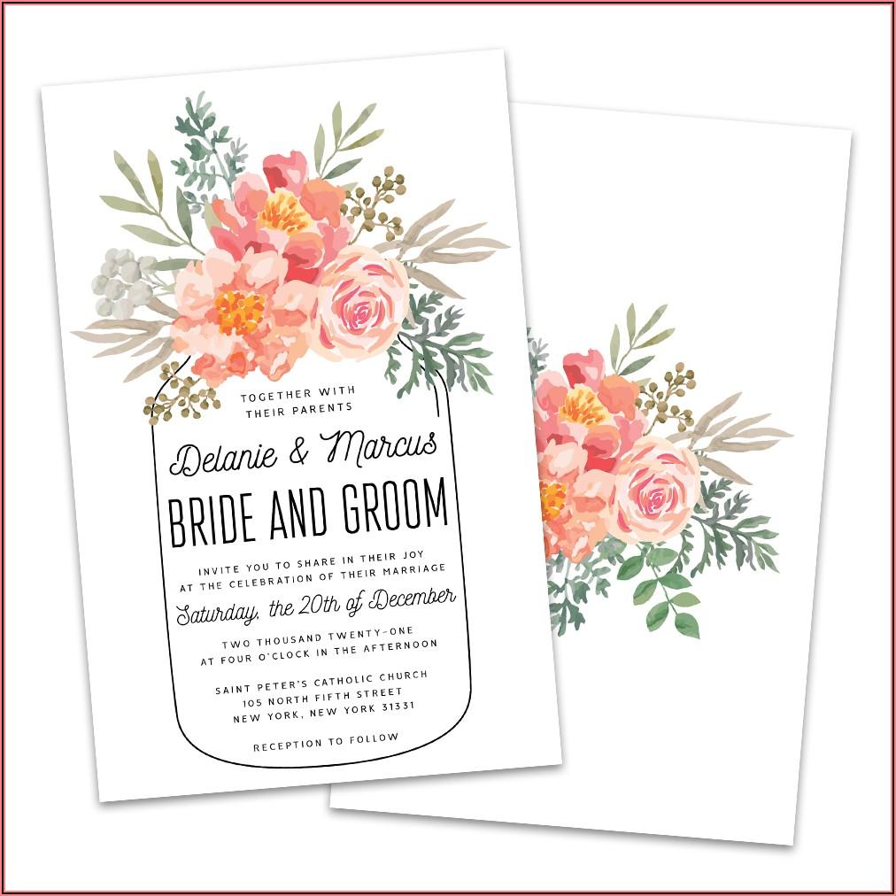 Mason Jar Wedding Invitations Walmart