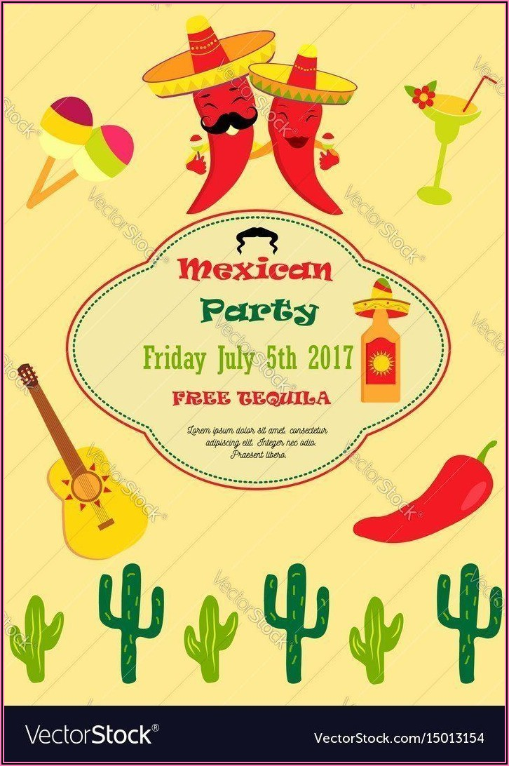 Mexican Party Invitation Template