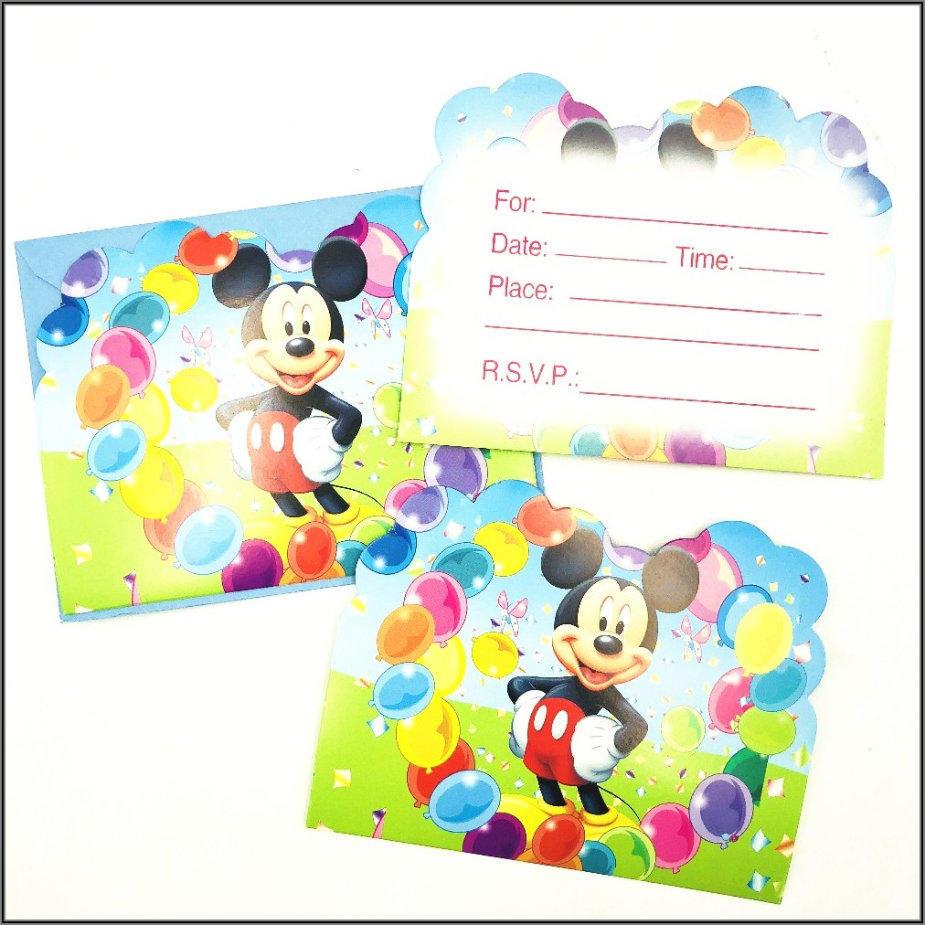 Mickey Mouse 1st Birthday Invitation Ideas