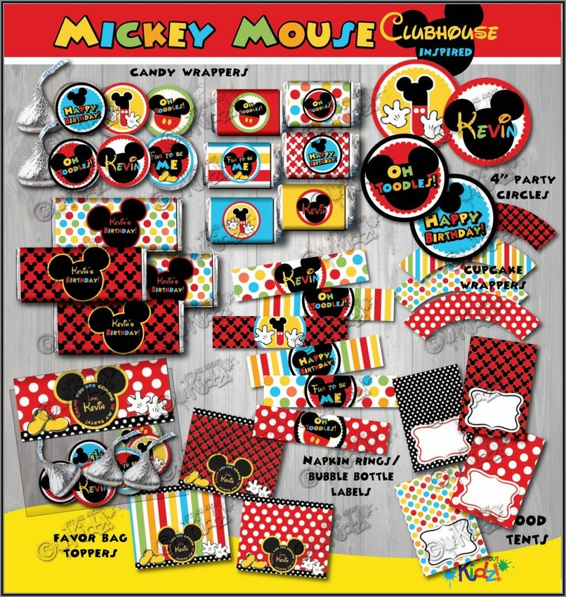 Mickey Mouse Clubhouse Decorations Etsy