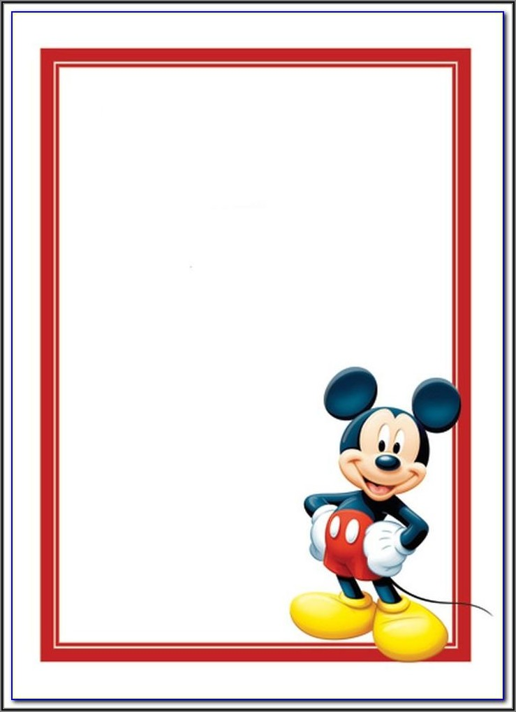 Mickey Mouse Clubhouse Free Invitation Template