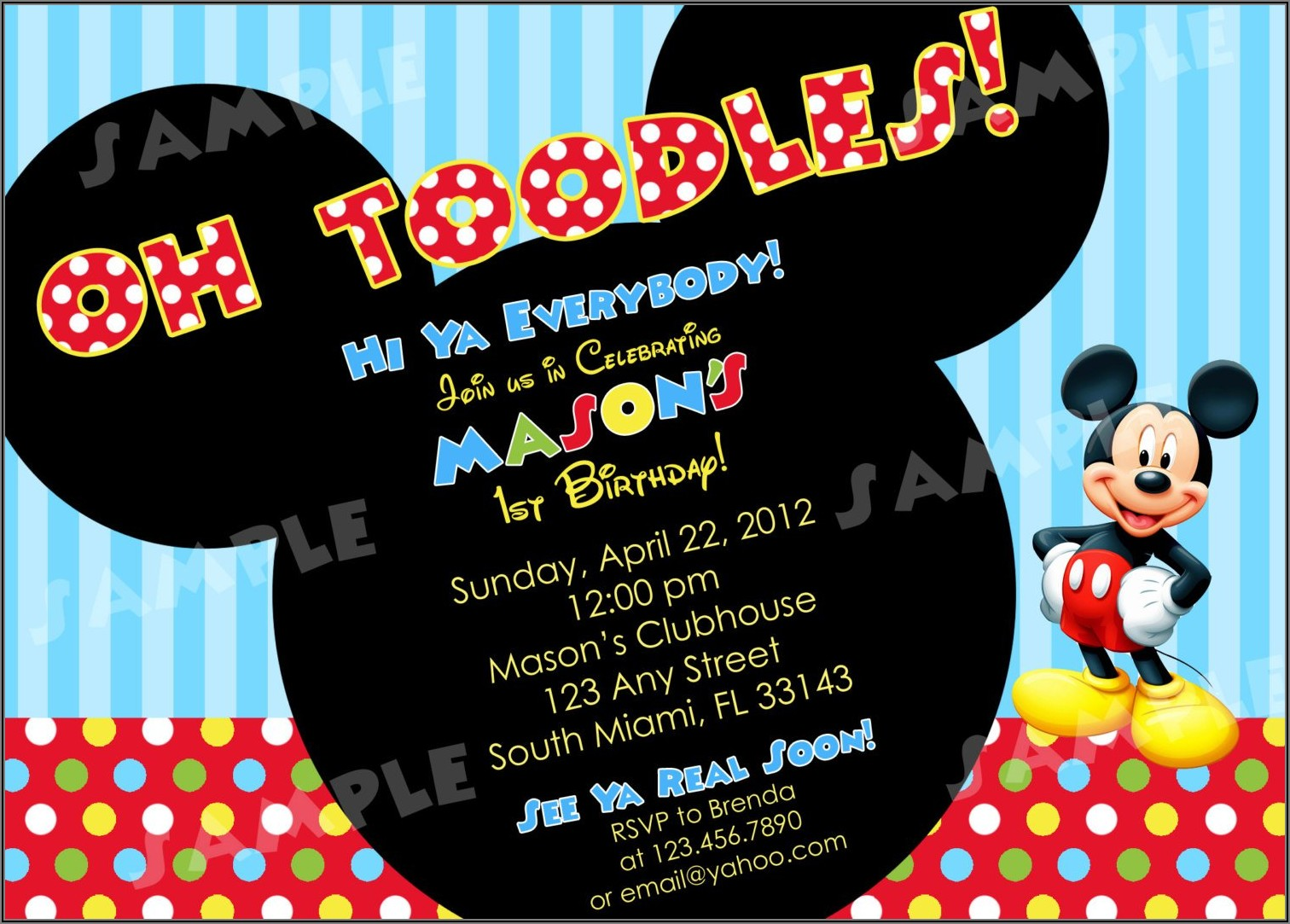 Mickey Mouse Clubhouse Invitations Free Download