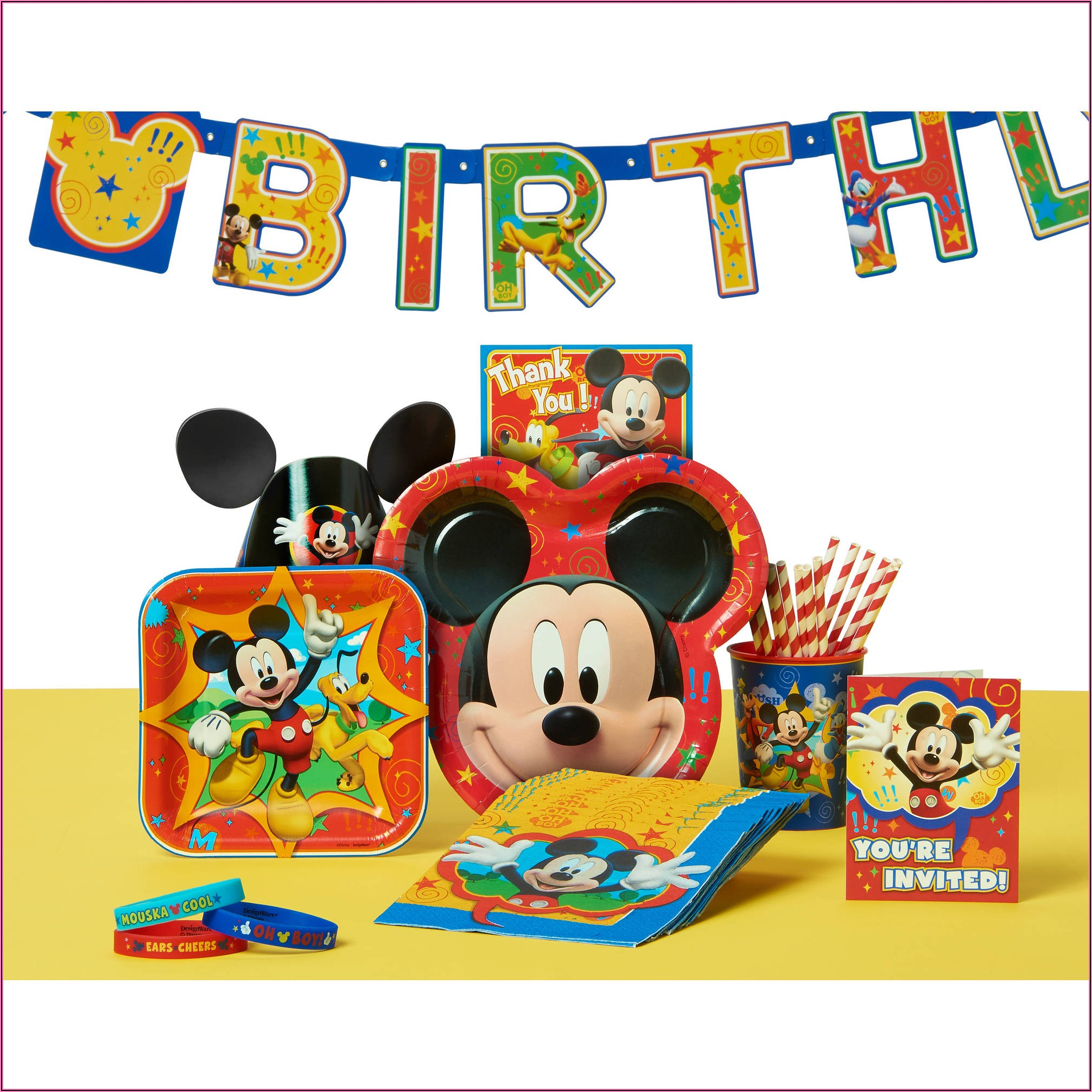 Mickey Mouse First Birthday Invitations Walmart