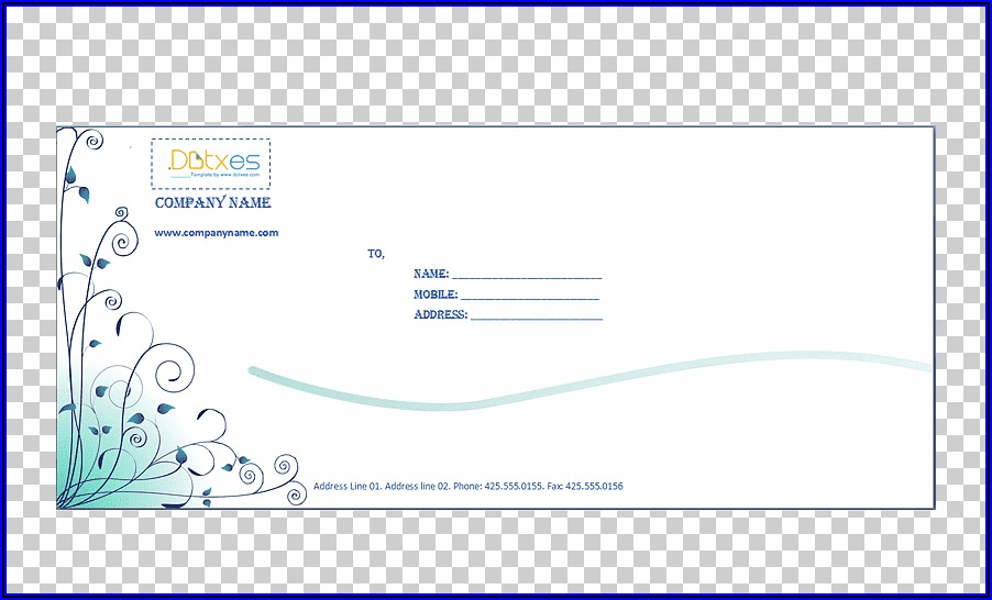 Microsoft Word Business Envelope Template