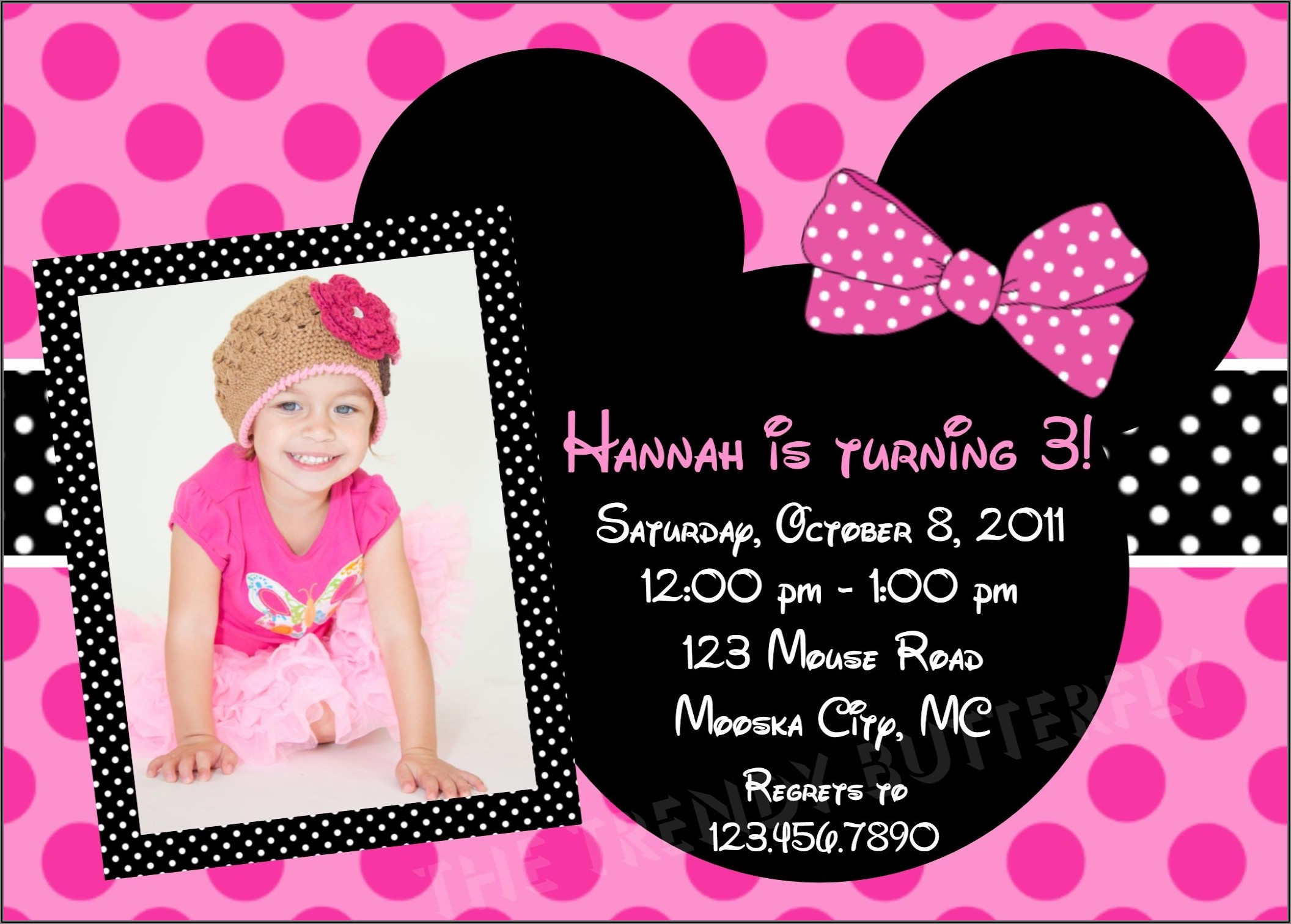 Minnie Mouse 1st Birthday Invitation Ideas