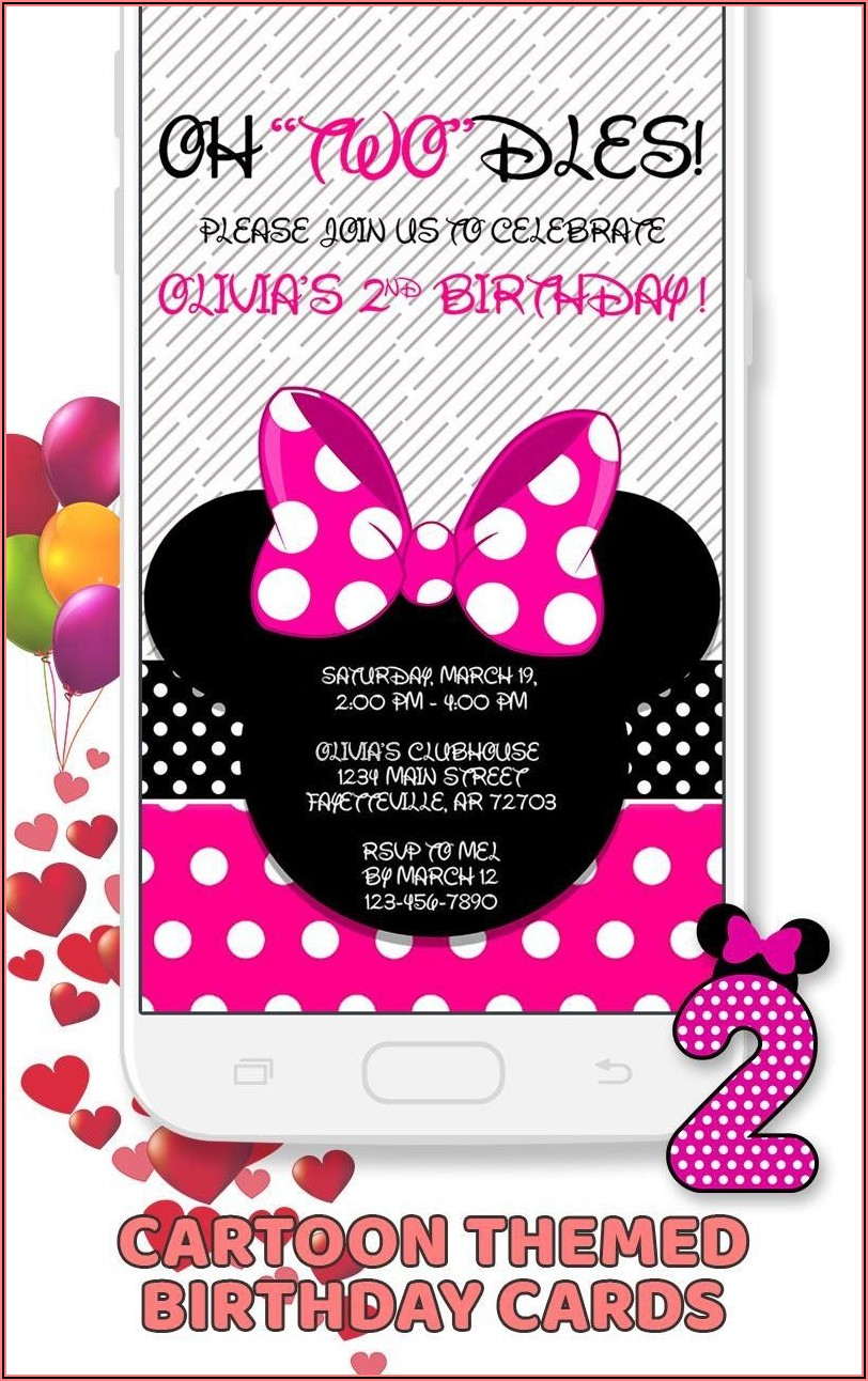 Minnie Mouse Invitation Card Maker
