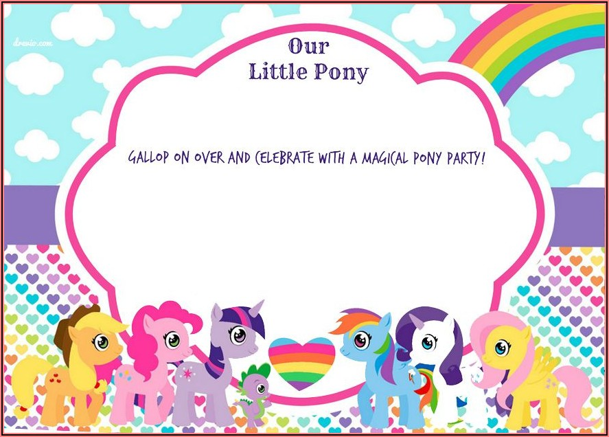 My Little Pony Birthday Invitations Free Printable