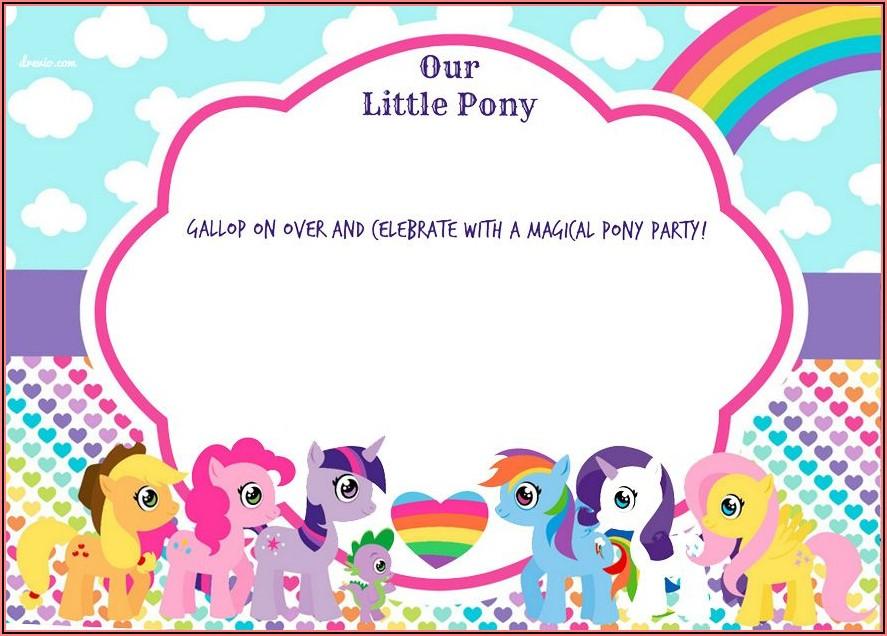 My Little Pony Birthday Invitations Personalized Free