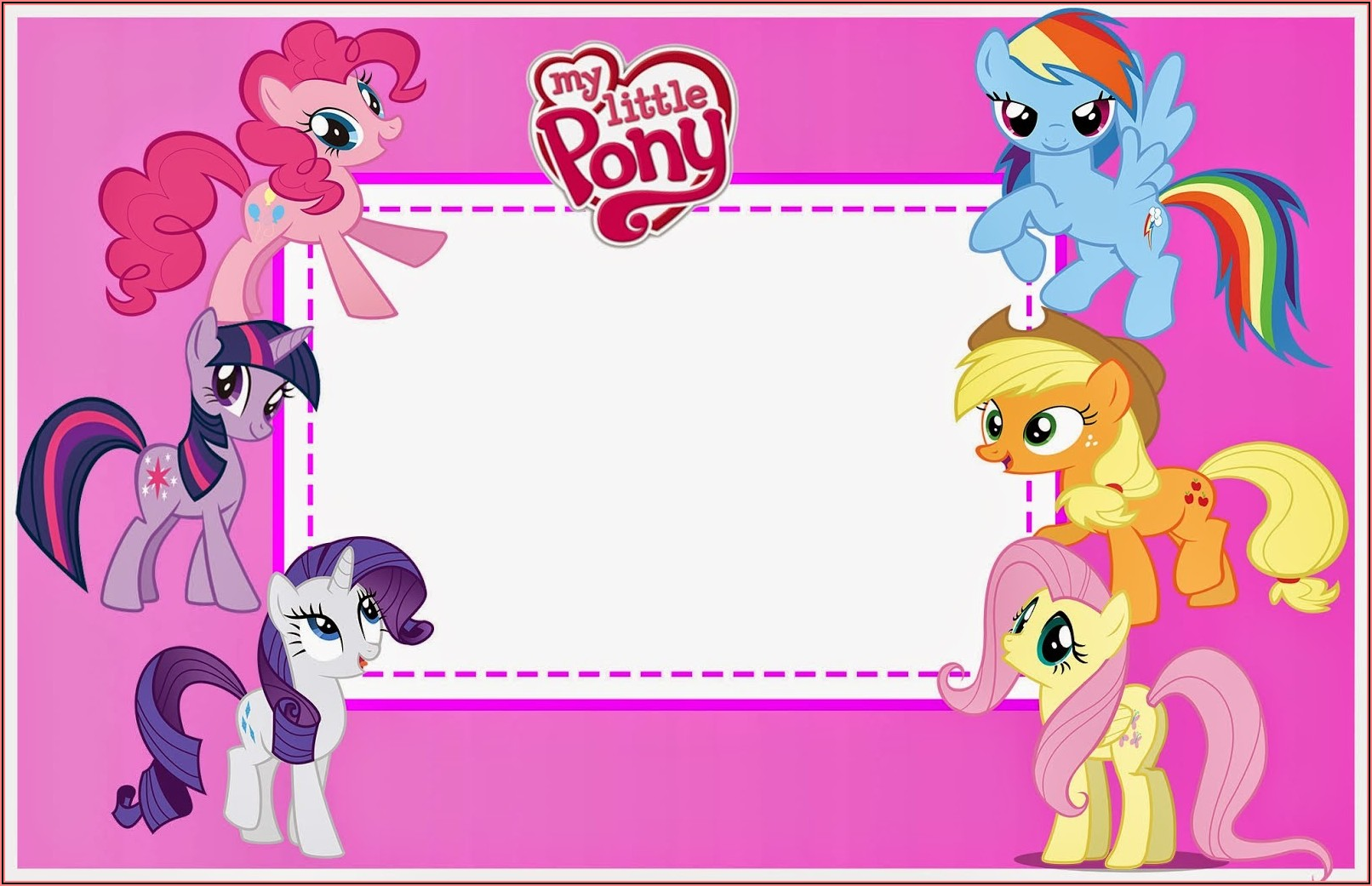 My Little Pony Party Invitations Printable