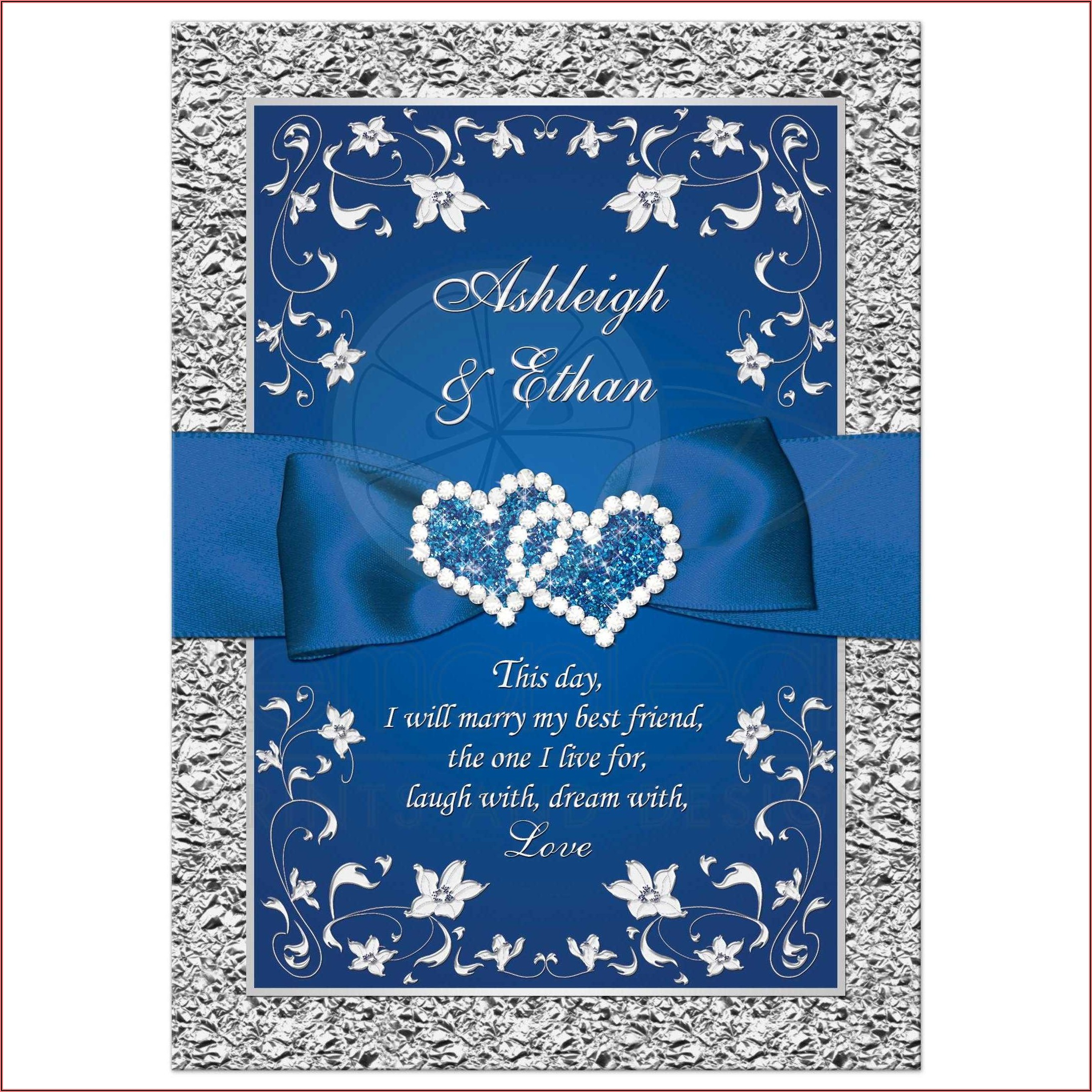 Navy Blue And Silver Wedding Invitations Canada
