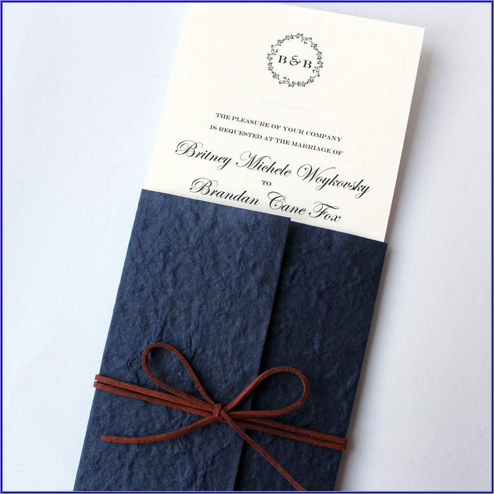 Navy Blue Wedding Invitation Cards