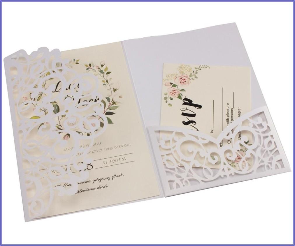 Navy Blue Wedding Invitation Ideas