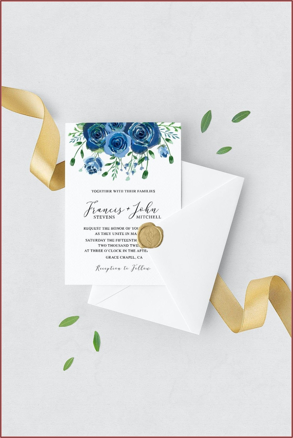 Navy Blue Wedding Invite Suite
