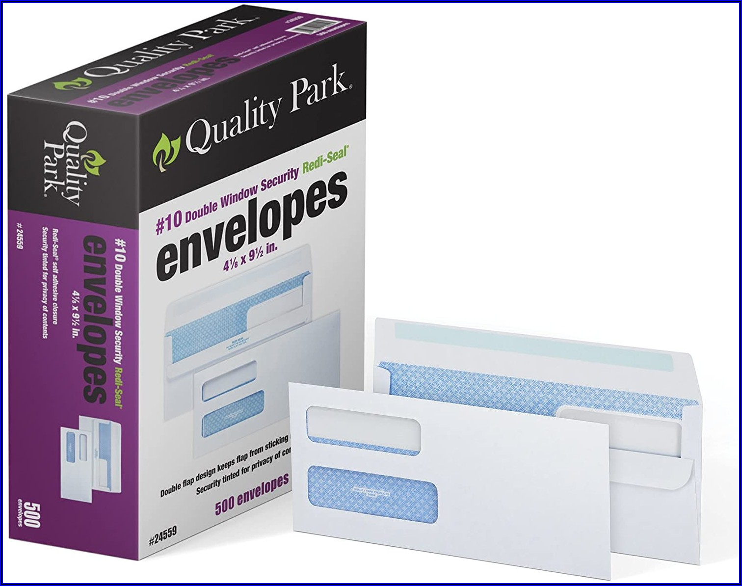 Number 10 Double Window Envelopes