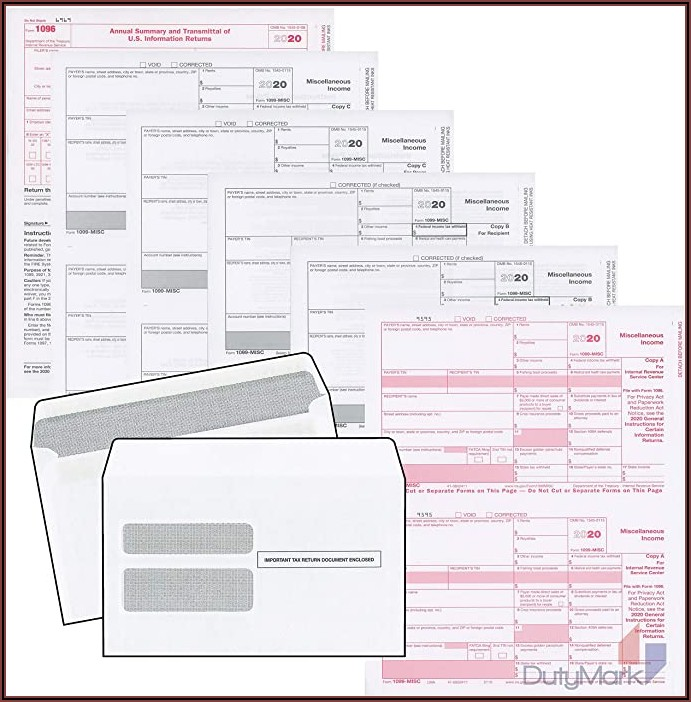 Office Depot 1099 Misc Envelopes