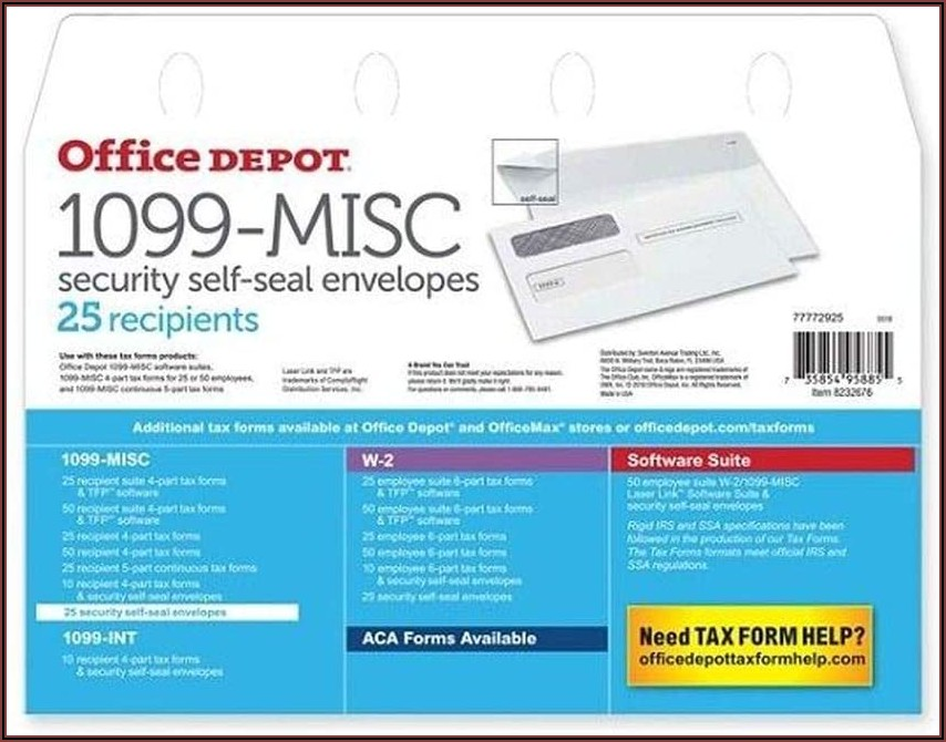 Office Depot Envelopes 1099