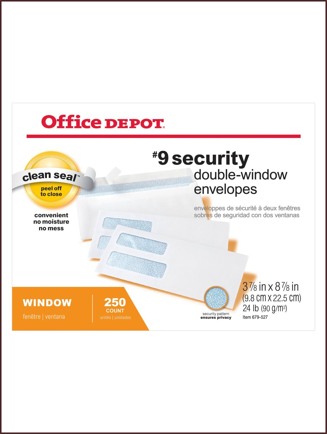 Office Depot Envelopes Sizes