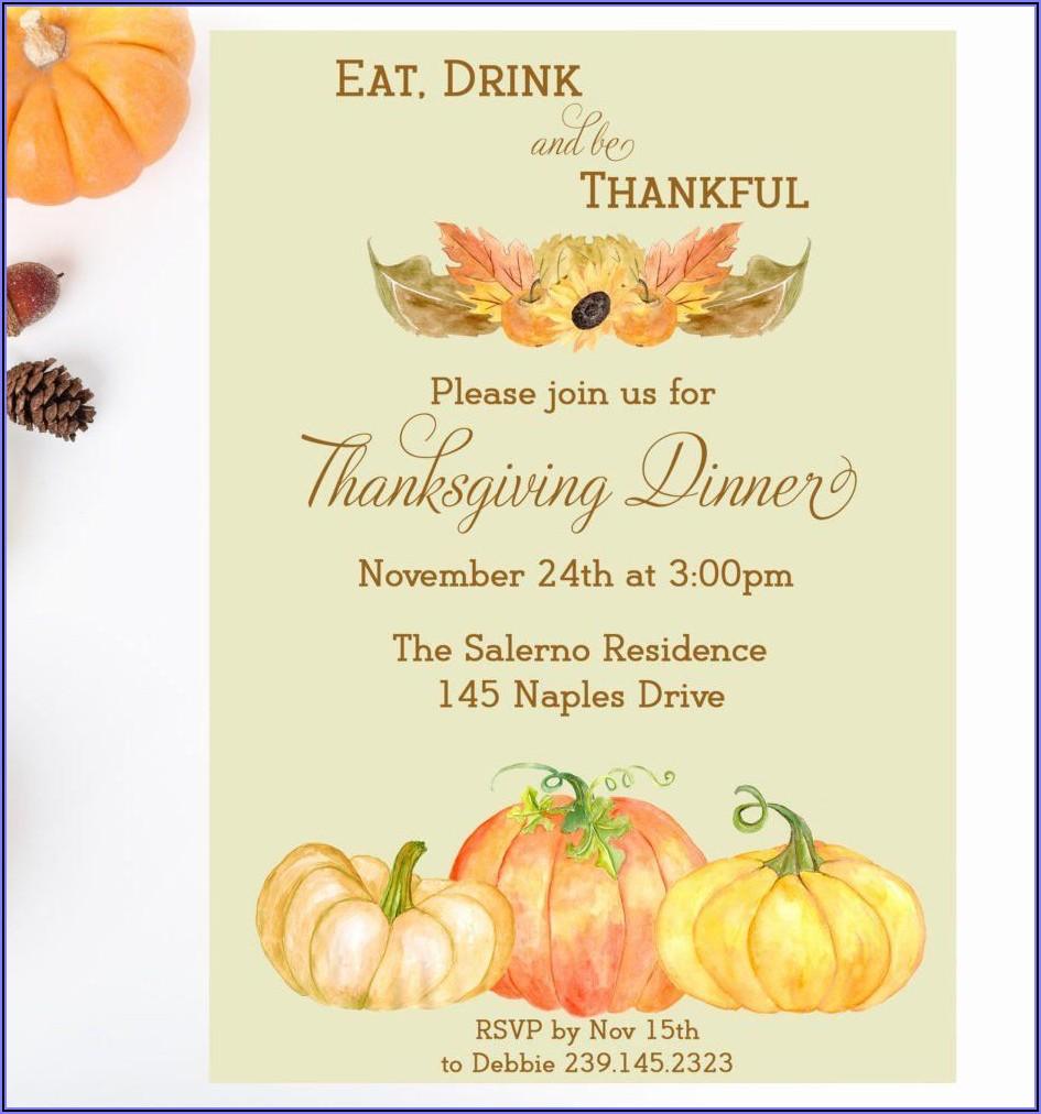 Office Thanksgiving Potluck Invitation Wording Samples