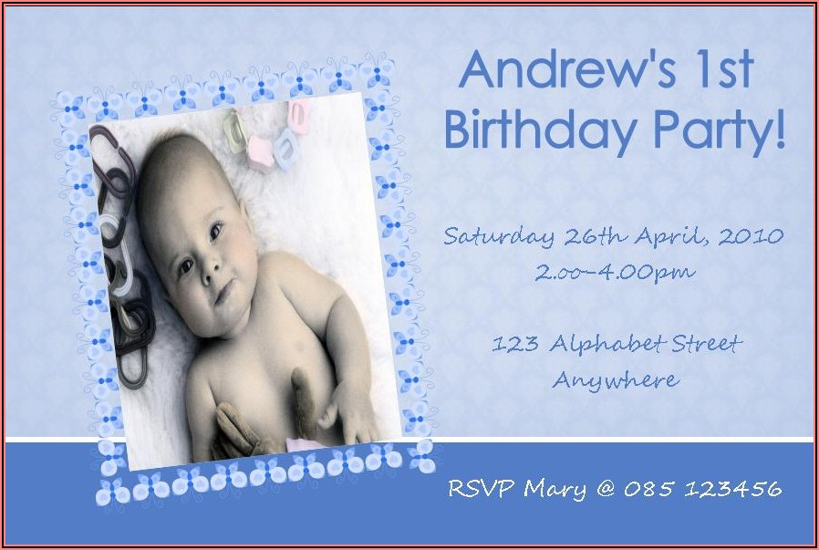 Personalised 1st Birthday Invitations Girl