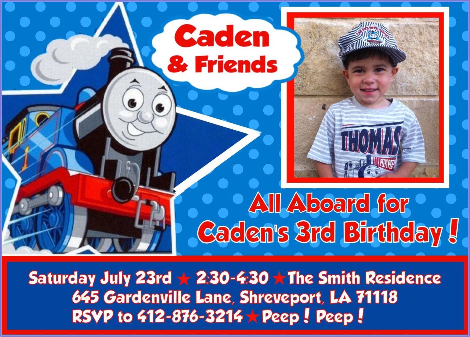 Personalized Thomas The Train Birthday Invitations Free