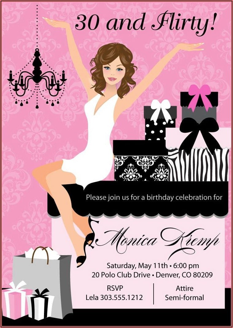 Photo Birthday Invitations For Adults