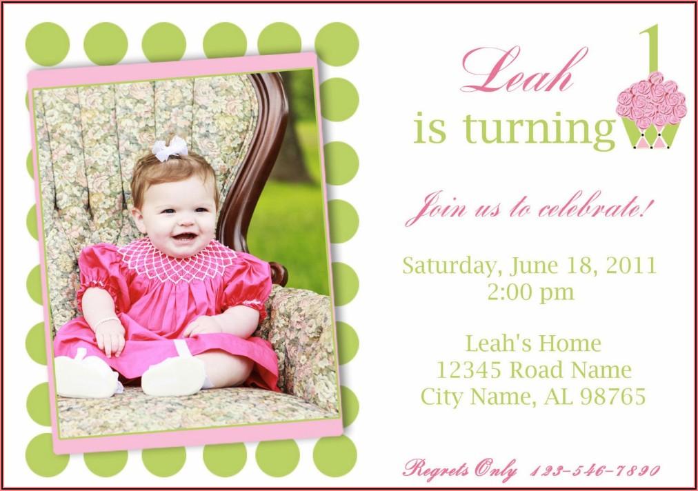 Photo Birthday Invitations Free