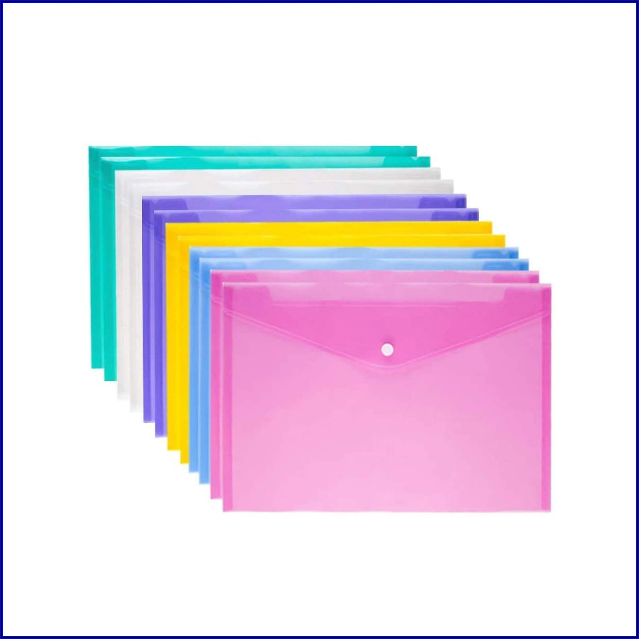 Plastic Envelope Folder With Snap Closure