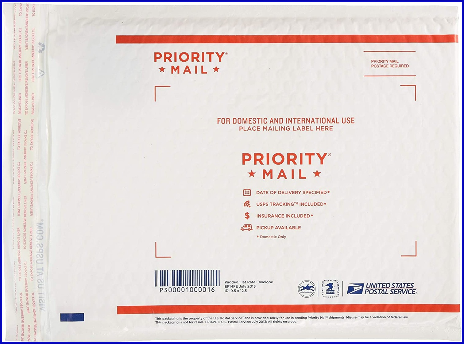 Postage For Padded Flat Rate Envelope