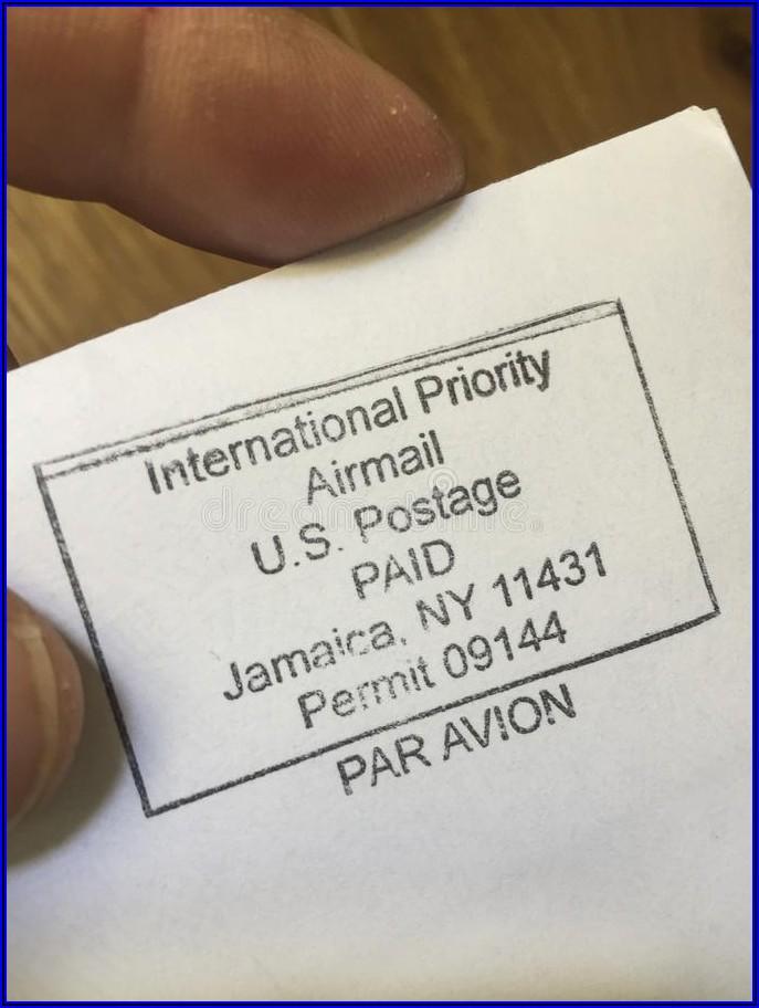 Prepaid Postage Envelopes International