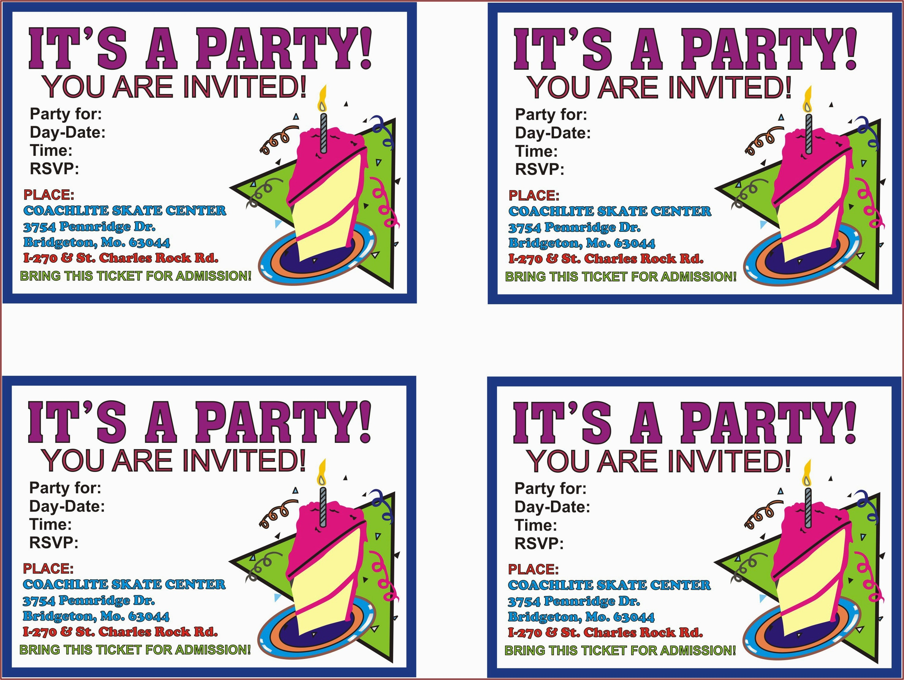Print Birthday Invitations At Home