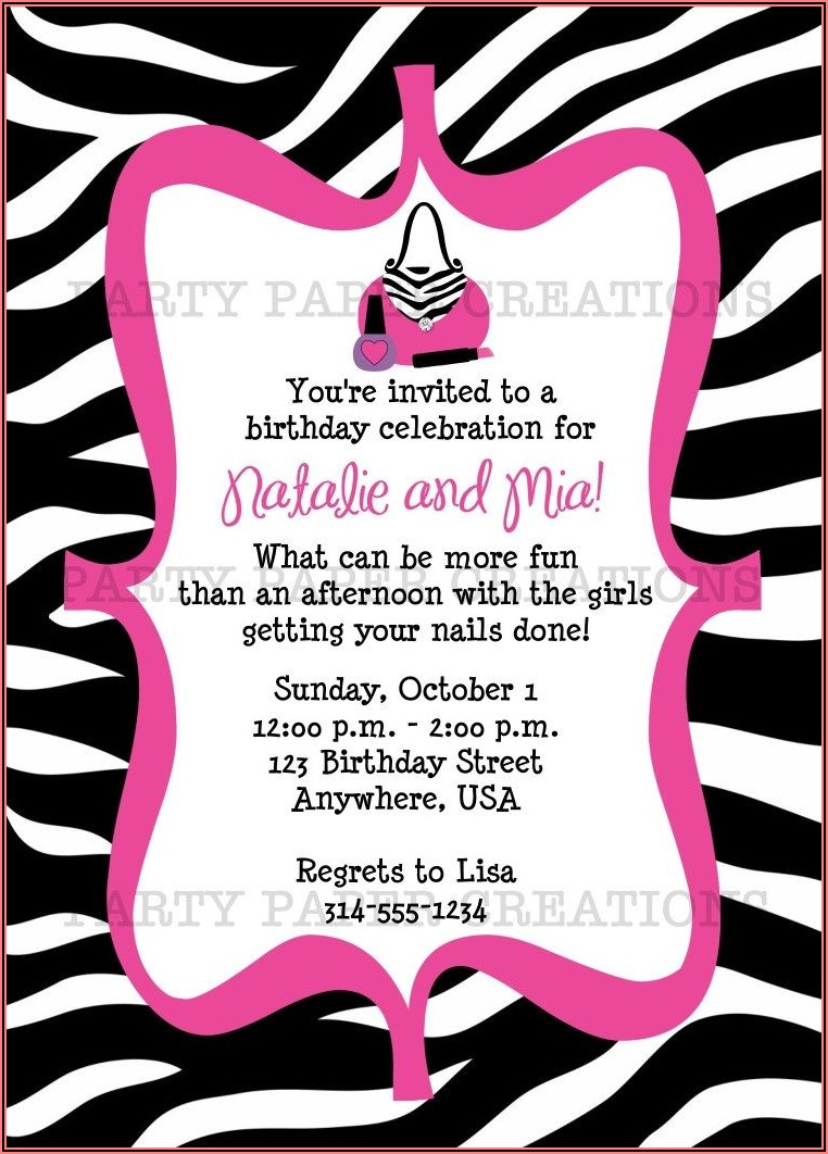 Print Birthday Invitations Free