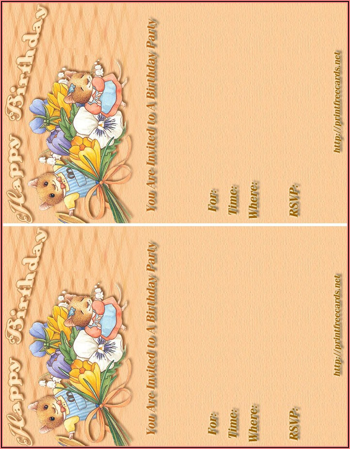 Printable Children's Birthday Invitations Free