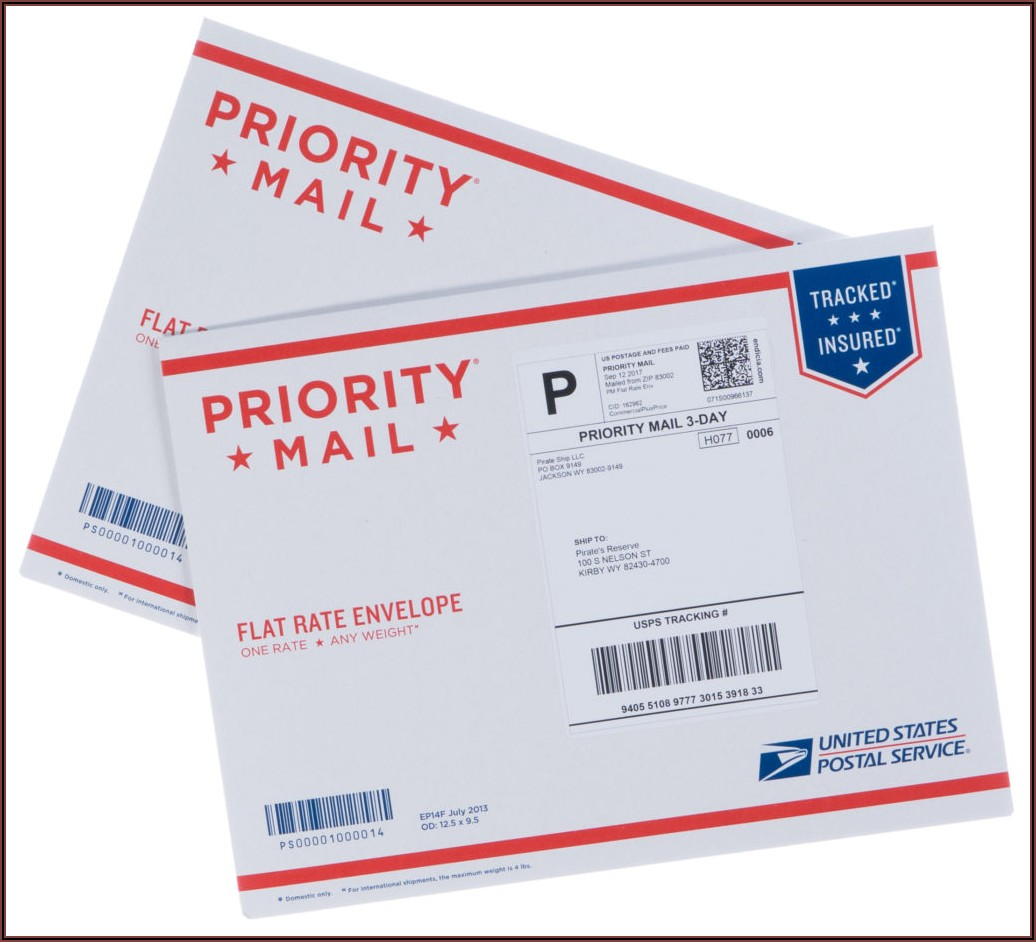 Priority Mail Envelope Example