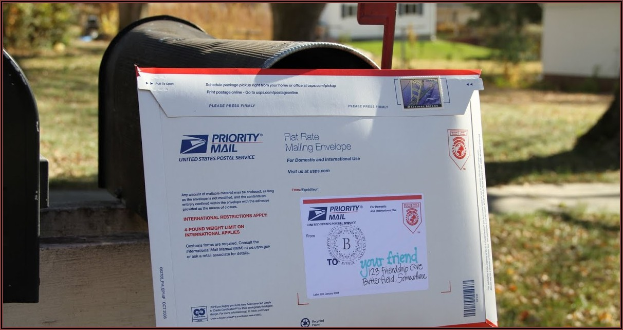 Priority Mail Envelope Postage