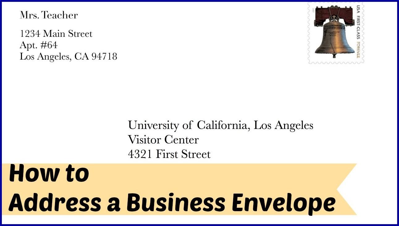Proper Business Envelope Address Format
