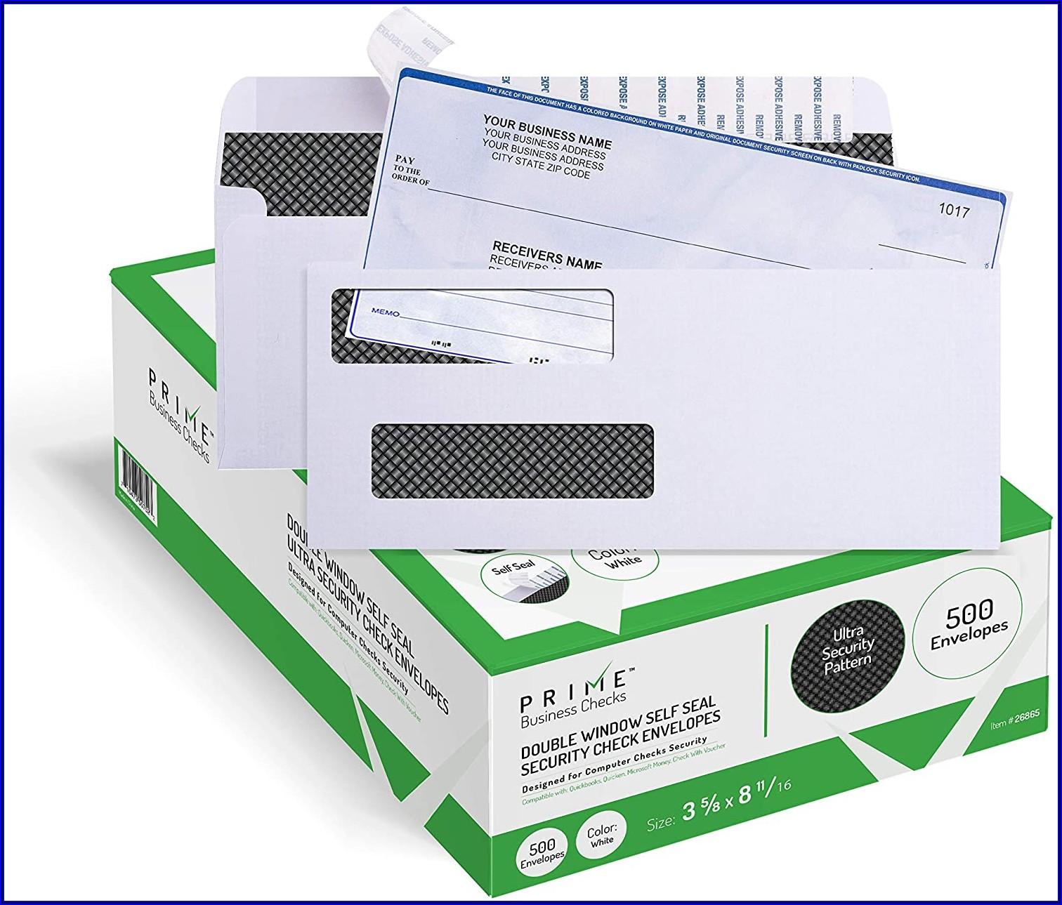 Quickbooks Check Envelopes Self Seal