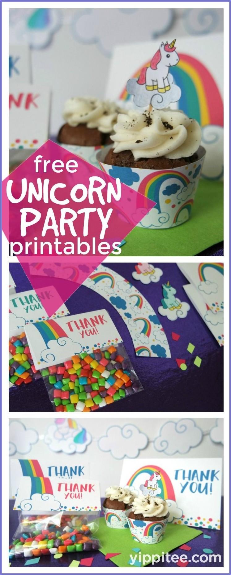 Rainbow Birthday Invites Free