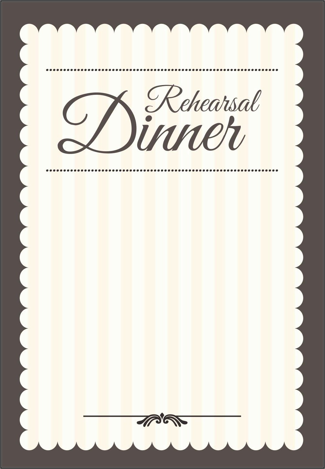 Rehearsal Dinner Invitation Template Free