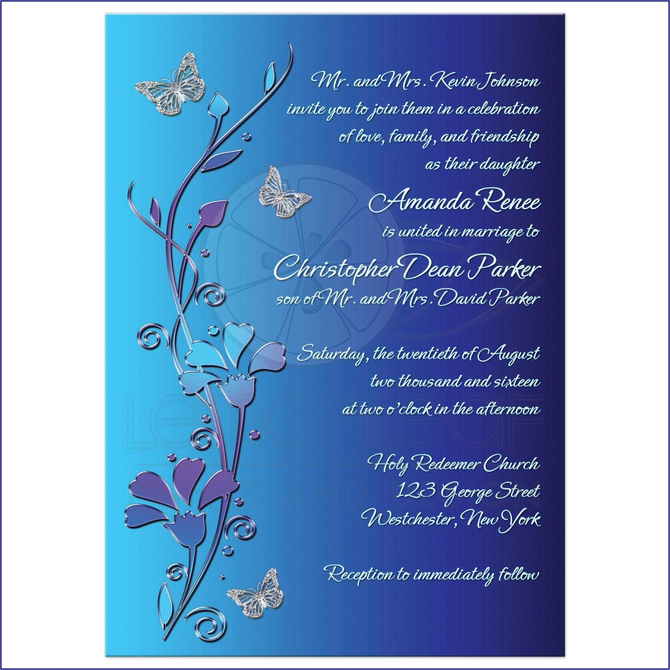 Royal Blue Wedding Invitation Background Designs Free Download