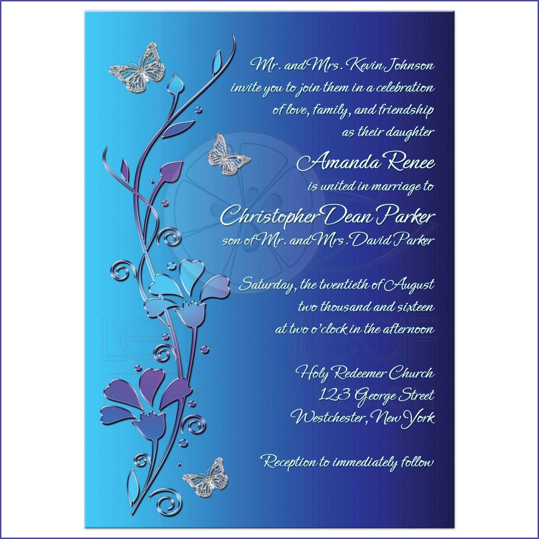 Royal Blue Wedding Invitation Background Designs Free Download
