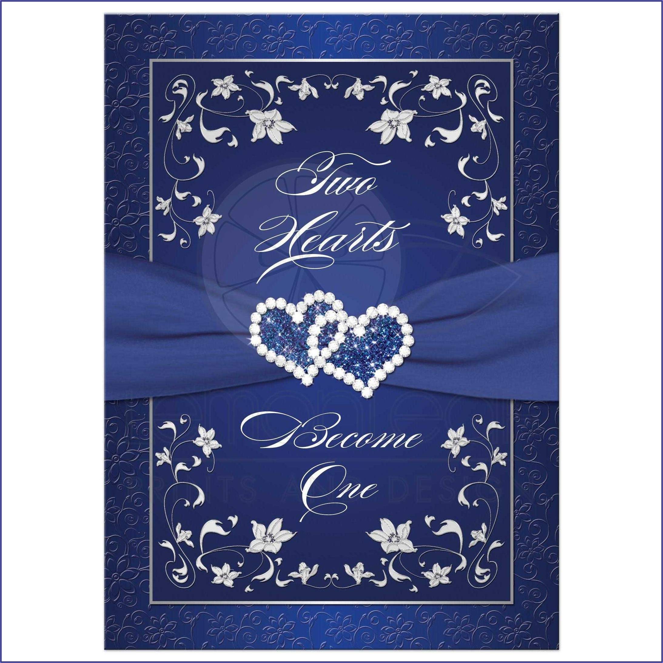 Royal Blue Wedding Invitation Background Hd