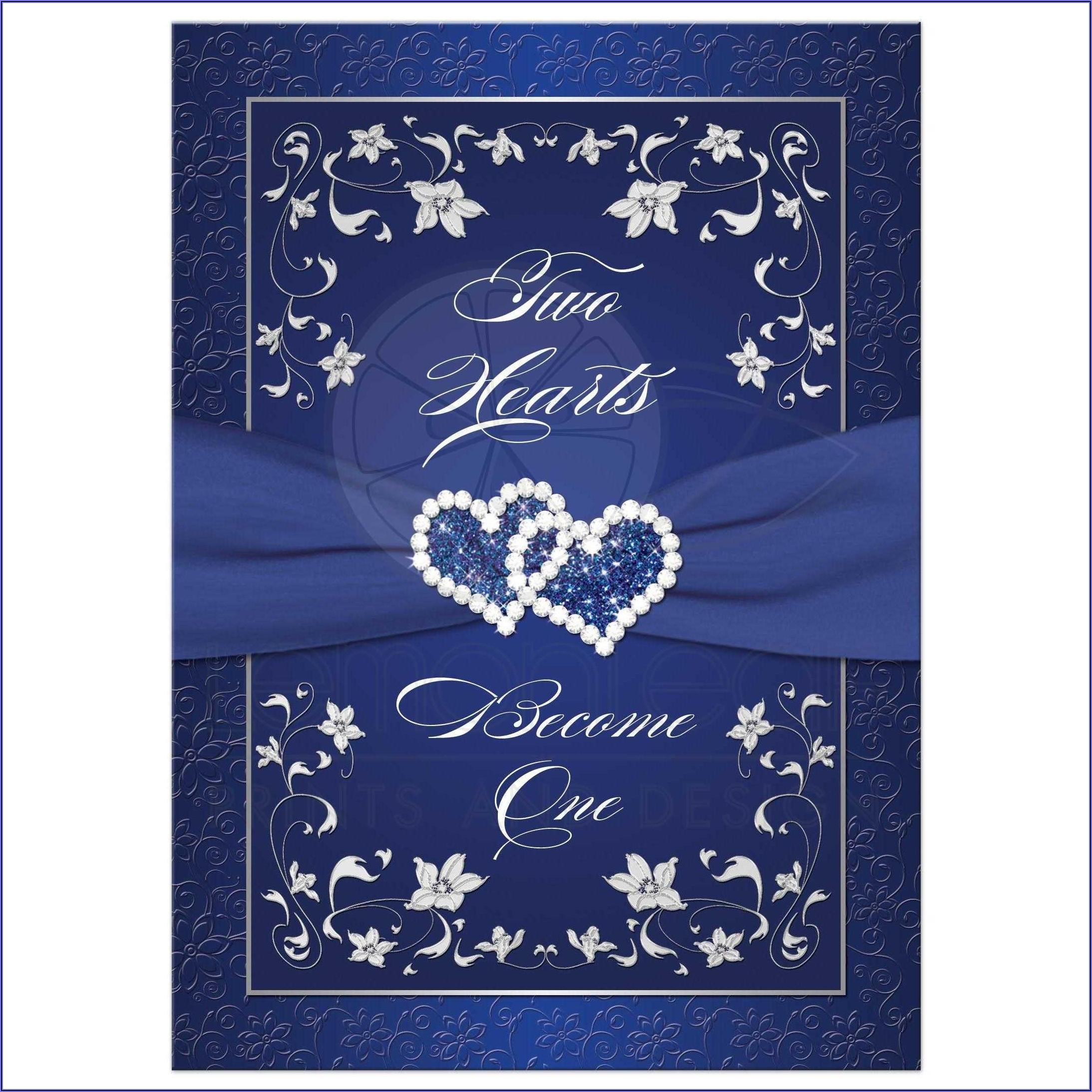 Royal Blue Wedding Invitation Background Hd
