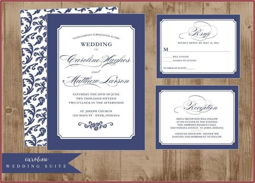 Royal Blue Wedding Invitations Pinterest