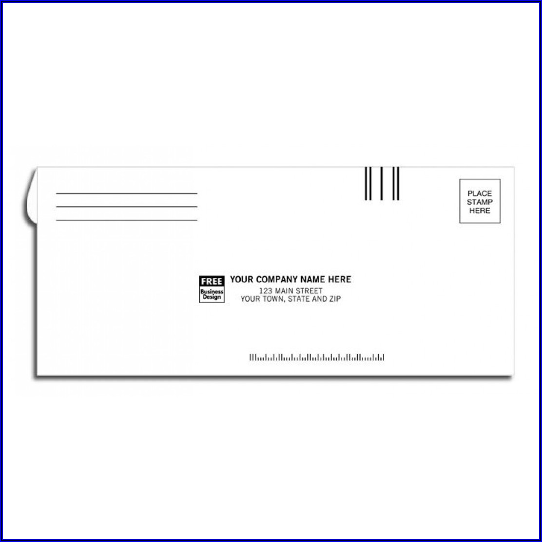 Royal Mail Business Reply Envelope Template