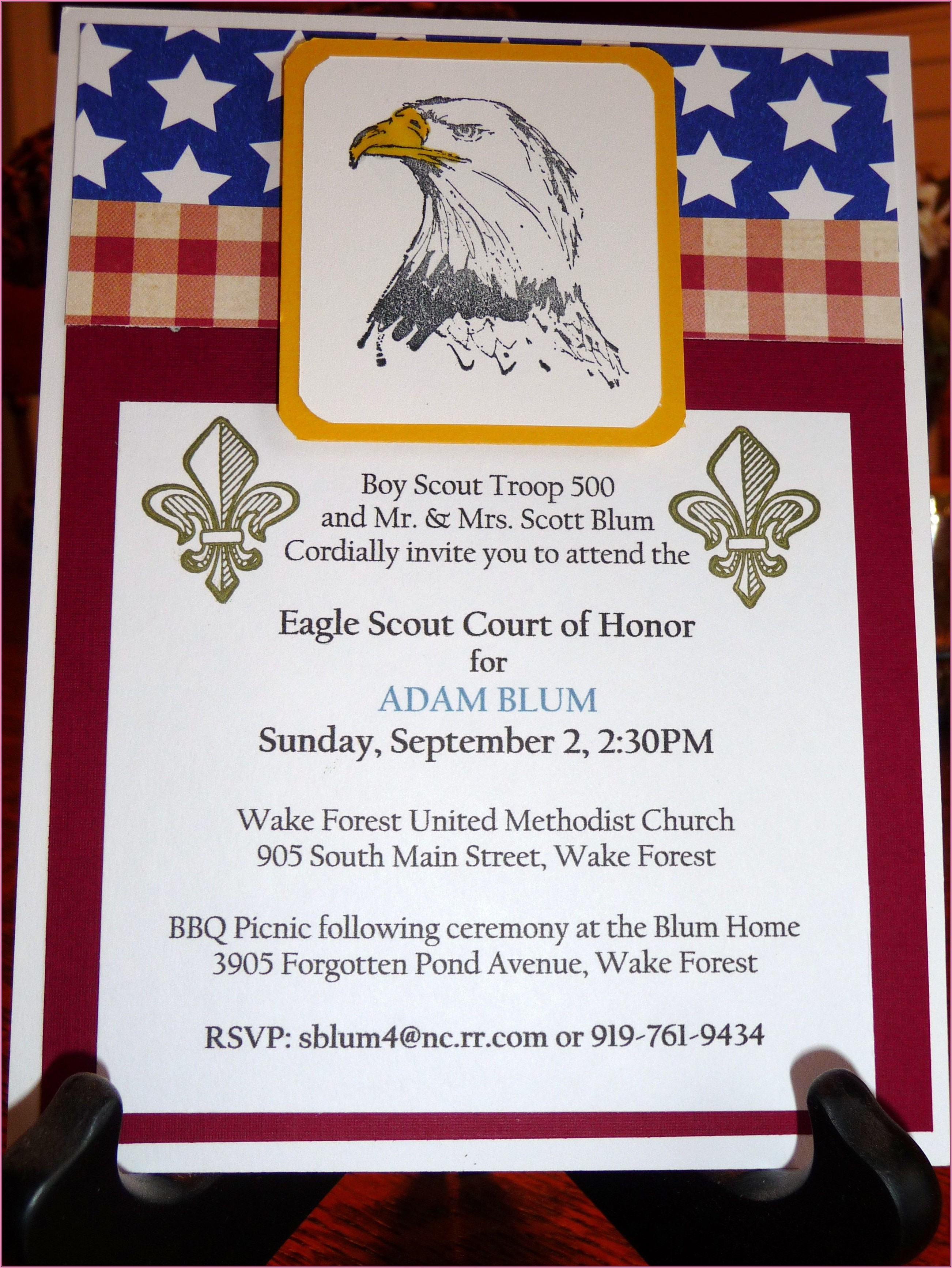 Sample Eagle Court Of Honor Invitations