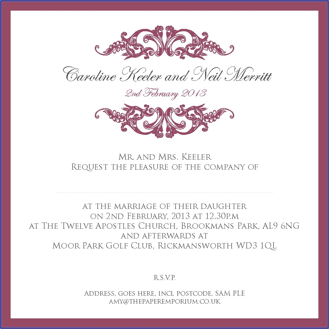 Sam's Club Wedding Invitation Sets